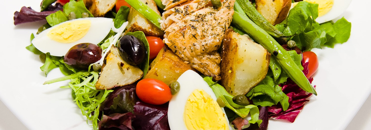 Salad Ingredients - Salmon Niçoise