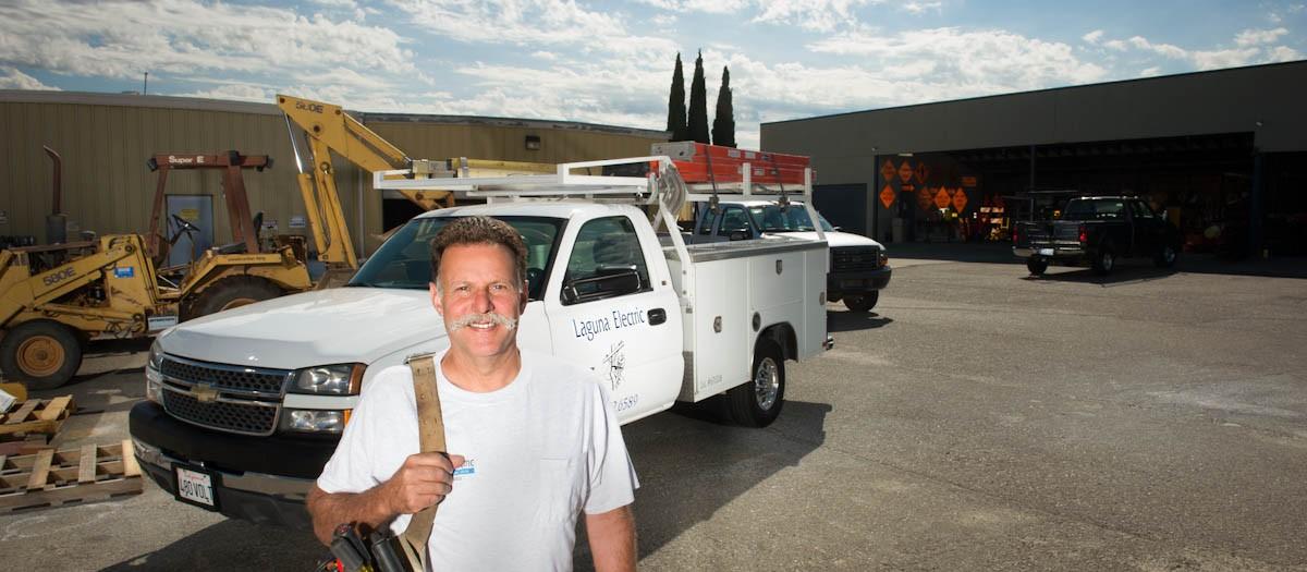 Environmental Portrait for Doug Brown of Laguna Electric