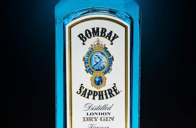 Bombay Sapphire Gin on a rainy afternoon...